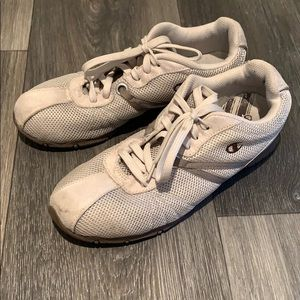 3/$30 Champion beige and brown retro look sneakers
